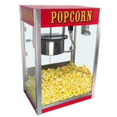 Paragon Theater Pop 8 Ounce Popcorn Machine for Professional Concessionaires Requiring Commercial Quality High Output Popcorn Equipment - Poptiva Popcorn Oil, Popcorn Cart, Pop Popcorn, Popcorn Maker, Best Microwave Popcorn, Best Popcorn, Commercial Popcorn Machine, Kettle Popcorn, Movie Theater Popcorn