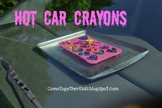 Come Together Kids: Hot Car Crayons.  You can use a muffin tin instead of a silicone pan. Line it with tin foil if you want to use it for food afterwards.