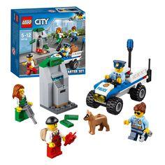 Gebruik de politieradio om versterking in te roepen! De boeven hebben de geldautomaat uit de muur geblazen met dynamiet en proberen hem nu te openen met een drilboor! Zet de agent achter het stuur van de politie-quad en ga eropaf. De politiehond kan je helpen bij het arresteren van de boeven. De LEGO« City politie beleeft elke dag wel iets spannends! Afmeting: verpakking 15,5 x 14 x 4,5 cm - LEGO City 60136 Politie Starterset