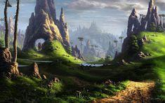 pictures of fantasy landscapes | Fantasy Landscape Render