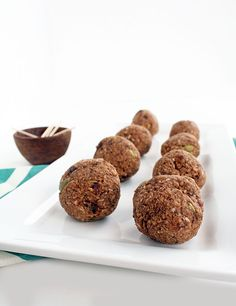 Cacao Plantain Rice Balls with Pepitas by @Inspiralized on inspiralized.com #paleo