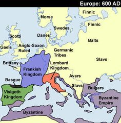 early medieval maps | Go to European History Interactive Map
