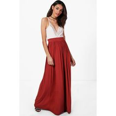 Boohoo Sophia Floor Sweeping Jersey Maxi Skirt ($11) ❤ liked on Polyvore featuring skirts, elastic waist maxi skirt, mini skirts, white long skirt, white mini skirt and pleated mini skirt