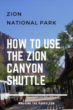Are you planning a Zion National Park Vacation? Except for a few winter months, the only way in and out is the Zion Canyon Shuttle. Read on for this easy guide on how to use the Zion Canyon Shuttle. Las Vegas, Zion Canyon, Bryce Canyon, Zion Park, Utah Vacation, Vacation Ideas, Trip To Grand Canyon, Angeles, Us National Parks