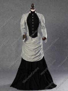 Titanic Fashion – 1st Class Women's Clothing   Victorian Edwardian Bustle Dress Gown Riding Habit Steampunk Punk Costume 139 $155.00 AT vintagedancer.com