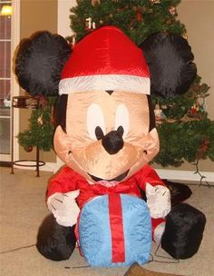 my disney life fun find holiday inflatable fun mickey minnie cinderella castle olaf frozen star wars and more christmas decor - Mickey Mouse Blow Up Christmas Decorations