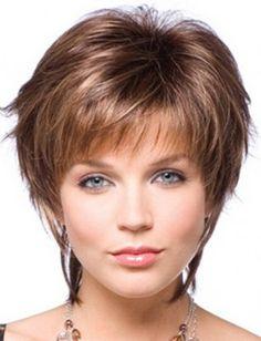 Cool Short Straight 100% Human Hair Blond Cheap Wig