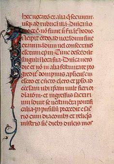 #Manuscrit français du 15e siècle, #reliure basane, texte sur #parchemin avec 168 feuillets décorés d'enluminures en marges, d'initiales ornées ou de grotesques. Et utilisation sur cette page d'encre #rouge #color #couleur #numelyo