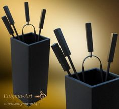 ZK-007cz Zestaw akcesoriów kominkowych - stal lakierowana czarny-mat
