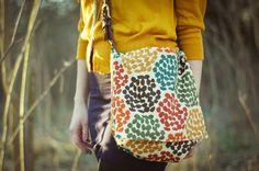 KRISTINA J.: How To Make a Fabric Messenger Bag