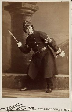 "Mora photograph of Fred Clifton as the Sergeant of Police in the original 1879 authorized production of ""The Pirates of Penzance"" at the Fifth Avenue Theater in New York."