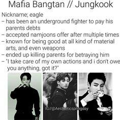 BTS Jeon Jeongguk Jungkook Imagine Mafia Bangtan