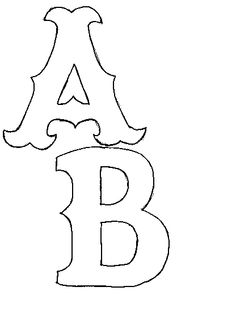 appliques free templates letters and directions
