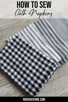 This is a guide on how to sew cloth napkins. These are without a mitered edge. Simple folded edge napkins that can be used for any table setting. #sewing #diy Diy Sewing Projects, Sewing Diy, Sewing Tools, Free Sewing, Sewing Tutorials, Sewing Hacks, Sewing Ideas, Tin Can Crafts, Jar Crafts
