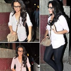 #Sonakshi Sinha in black #wayfarer #eyeglasses at #Dabangg2 screening.