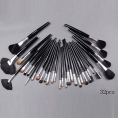 mac 32pcs brush set with black pouch makeup : cheap mac cosmetics wholesale - $25.53