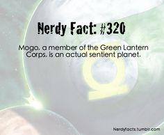 Nerdy Fact #320 Mogo the sentient planet - Green Lantern