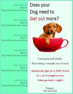 25 best dog walking flyer certificate images on pinterest in 2018