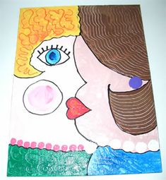 Cuban abstract painting craft - Hands On Crafts for Kids