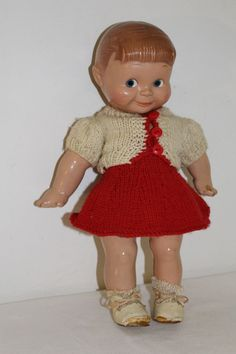 """Antique Original 12"""" Rose O'Neill Composition Giggles Kewpie Doll"""