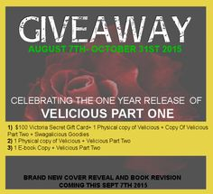 WIN a $100 Victorias Secret GC| Velicious Part One book and many more prizes XD