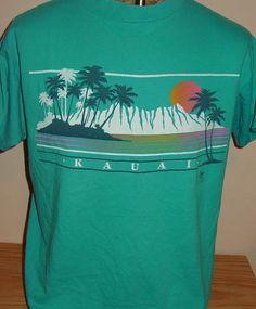 vintage 1987 Kauai Hawaii beach t shirt by vintagerhino247 on Etsy, $15.00