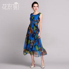 Find More Dresses Information about 2016SUMMER WOMEN SILK DRESS ...