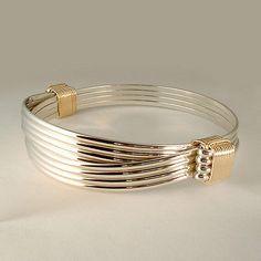 Bracelets 98480: Sterling Yellow Gold Filled 2 Knot 4 Strand Elephant Hair Style Safari Bracelet BUY IT NOW ONLY: $140.0