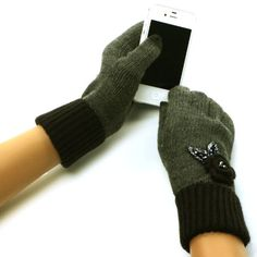 New Ladies Winter Fancy Crochet Flower with beads and sequins Dressy Casual Knit Magic Touch Screen Thumb Index Technology Glove Outdoor Indoors Gloves with 2 Tone with 2ply Knit Ribbed Elast Wrist Magic Touch Glove for Tablet PC, Ipods, Ipads, Iphones, Laptops, Touchscreens, PDA and so much more New Technology, it's amazing! Keep your glove on and adjust your electronic devices. Warm and Comfortable Super soft & warm...