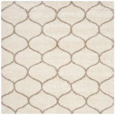 Safavieh Hudson Shag Moroccan Ogee Ivory/Beige Rug (7' Square)