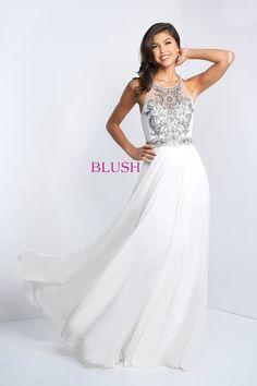 eb751300a4b Blush Style Beaded bodice with full chiffon skirt. Sara Loree s Bridal · Blush  Prom 2018