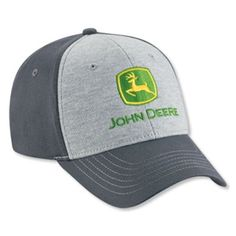 This men s John Deere cap is structured. Grey twill cap with jersey crown.  Velcro 1982b176a70