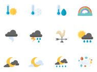 Weather icons - square format