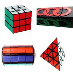 Rubik's Cube, The Missing Link, Whip-It and the Pyraminx