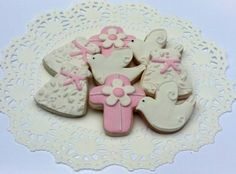 Mini Baby Girl Christening / Baptism Sugar Almond Or Vanilla Cookies - 30 Pieces by Picket Fence Confections on Gourmly