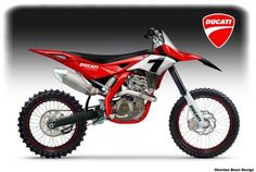 Internet rumors are rife that Ducati is set to release a motocross bike to the market. Naturally, we are suspicious. Motorcycle Design, Motorcycle Bike, Bike Design, Dirt Bikes For Sale, Cool Dirt Bikes, Motocross Bikes, Sport Bikes, Honda Supermoto, Bike Illustration