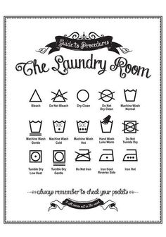 Guide to Procedures Laundry Room