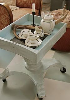 recycle parts to create moveable teacart