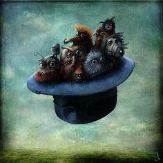 The Whimsical Art of Alexander Jansson Love this picture - the expression on the faces as if this is just an everyday occurrence.