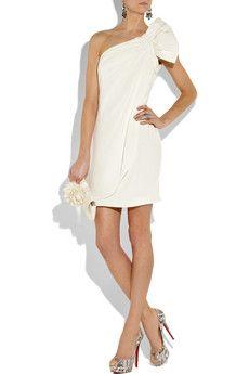 Marchesa Notte - Silk-crepe one-shoulder mini dress 6fed7ef43