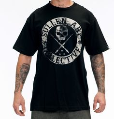 Sullen Men's Badge of Honor Tee http://iconicthreadsco.com/index.php/men/tops/tees/sullen-men-s-badge-of-honor-tee.html  use promocode rockstarstyle15 at checkout for 15% off  #menswear #style #fashion #swag #shop #onlineshopping #retail #Mensfashion #men #inkedguys #tattoo #tattooedguys