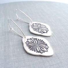 Bold and Beautiful Drop Earrings Fine Silver by Dragonfly65