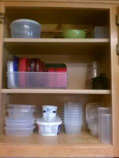 Tupperware storage and  organization.