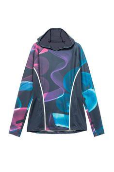 Desigual blue sports sweatshirt Hood Long Tee Arty with colorful motifs Long Tee, Wetsuit, Athletic, Zip, Tees, Swimwear, Jackets, Fashion, Scuba Wetsuit