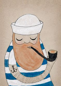 Sailor illustration by Michellle Carslund