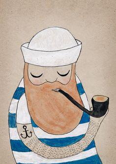 Sailor POSTER by MichelleCarlslund on Etsy, €23.00
