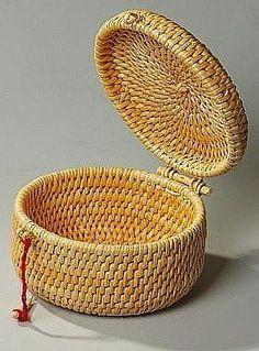 - Her Crochet Paper Weaving, Weaving Art, Pine Needle Crafts, Bountiful Baskets, Barn Quilt Designs, Pine Needle Baskets, Basket Crafts, Newspaper Basket, Bamboo Crafts