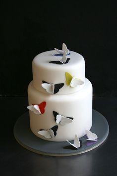 Sugarplum Cake Shop - Playful Cakes butterfly cake http://amzn.to/2luw5mX
