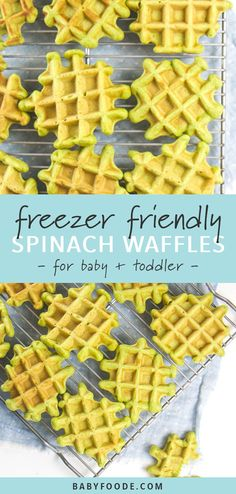 These Freezer-Friendly Spinach Waffles are a perfect healthy and quick breakfast for baby, toddler and kids! Great for baby-led weaning! Warm and wholesome waffles made with nutrient packed spinach! Healthy Toddler Meals, Toddler Lunches, Kids Meals, Toddler Dinners, Meals For Baby, Meals For Toddlers, Healthy Toddler Breakfast, Waffles, Fingerfood Baby