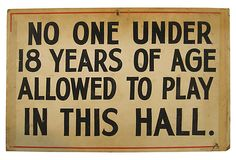 vintage billiard sign